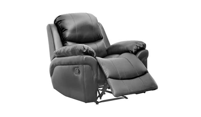 Madison Bonded Leather Reclining Arm Sofa Chair