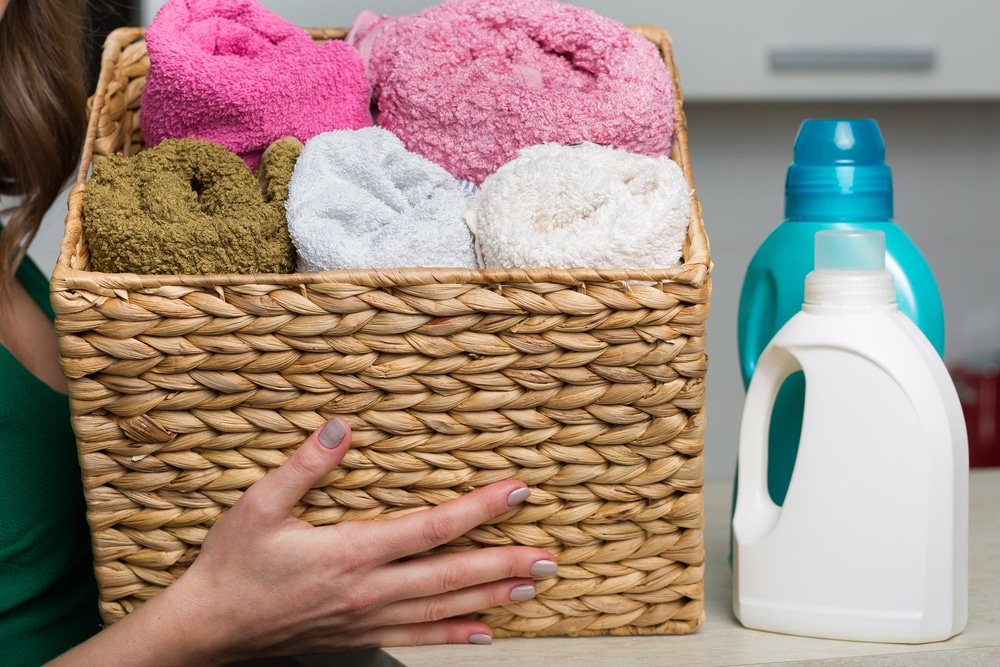 detergent, softener and laundry